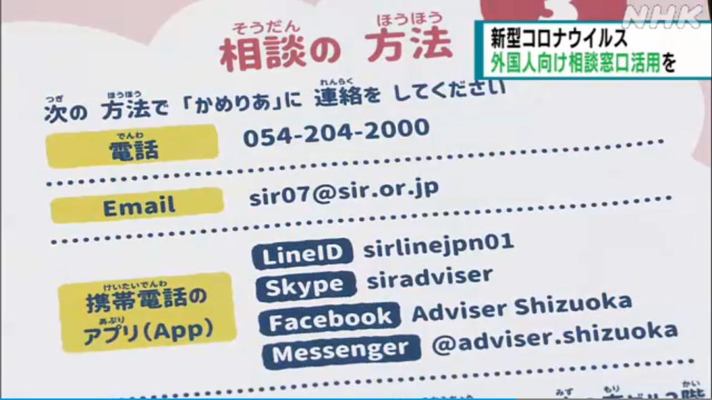 image 2 - Shizuoka tem central de atendimento à estrangeiros afetados pela pandemia